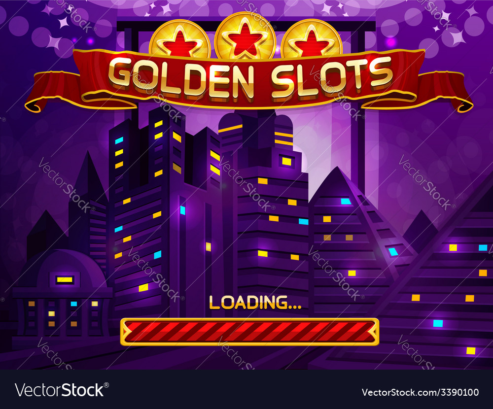 Loading screen for slots game vector | Price: 3 Credit (USD $3)