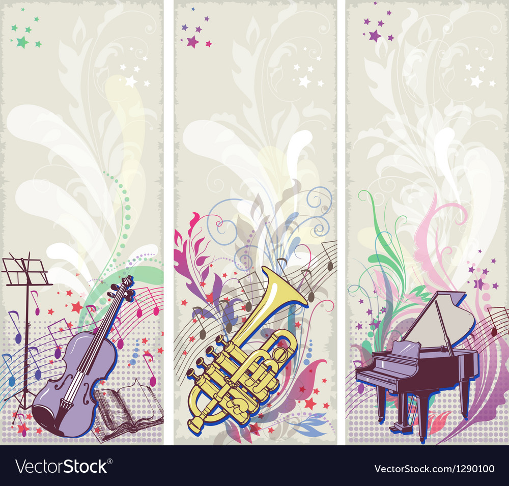 Musical backgrounds vector | Price: 3 Credit (USD $3)