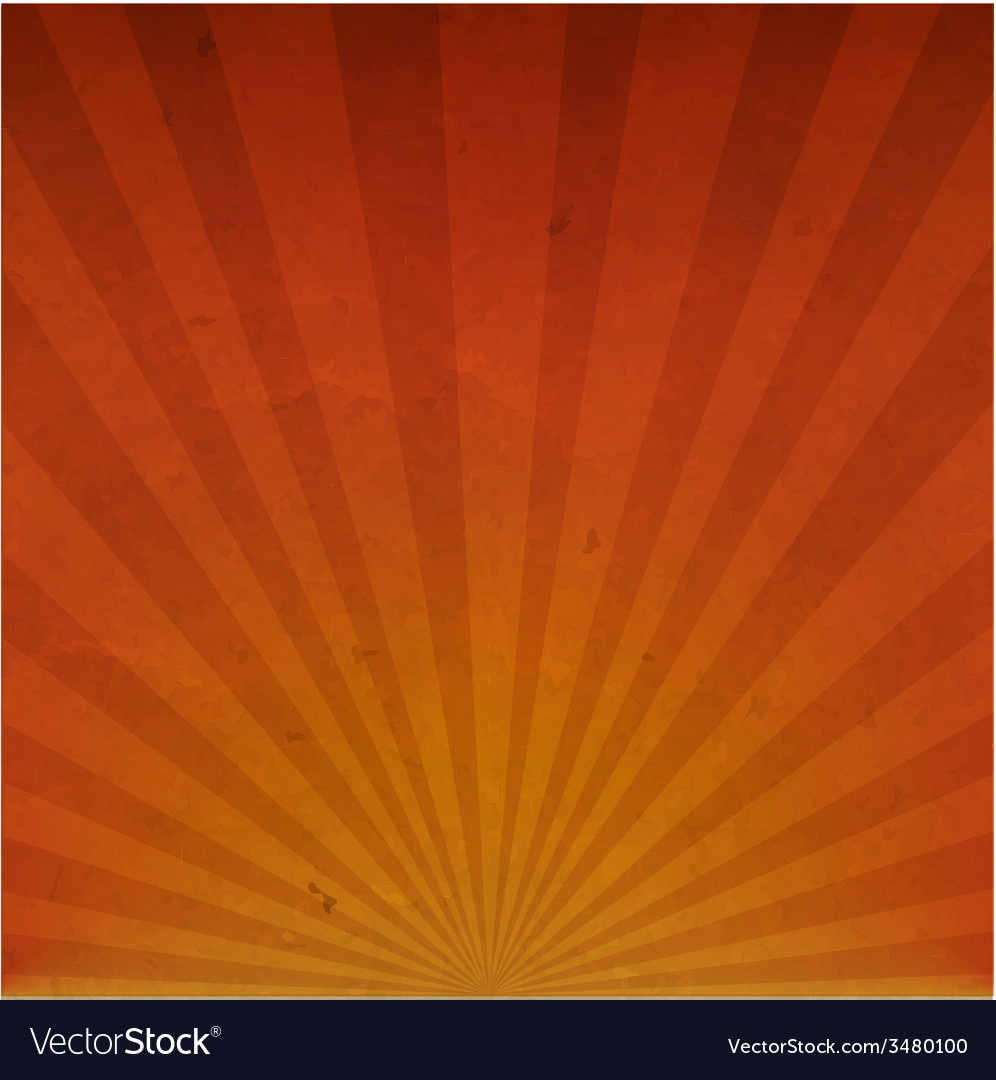 Orange vintage sunburst cardboard paper vector | Price: 1 Credit (USD $1)