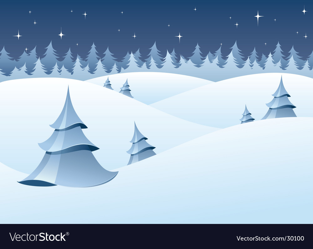 Winter woodland scenery vector | Price: 1 Credit (USD $1)