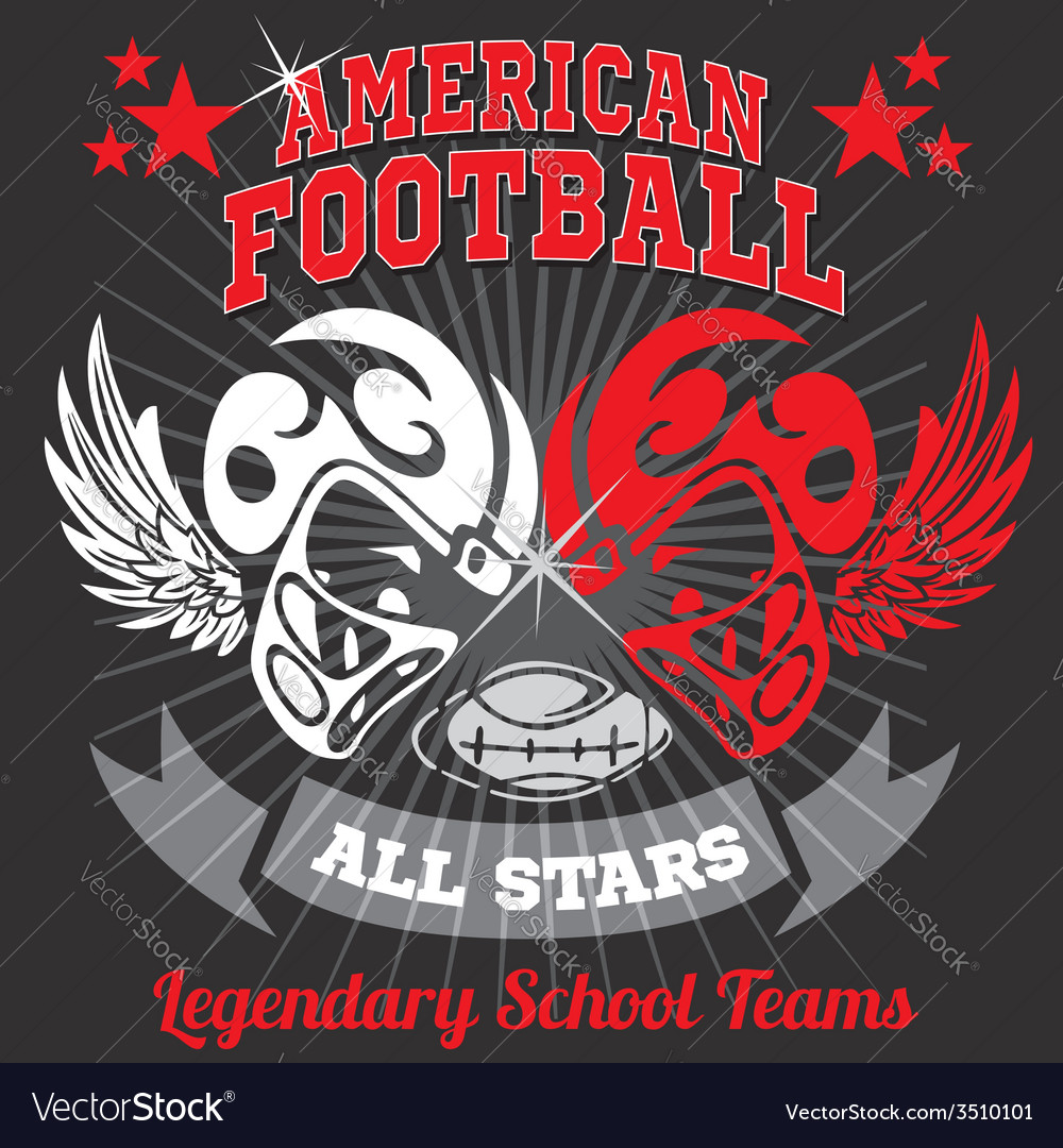 American football - vintage print for boy vector | Price: 1 Credit (USD $1)