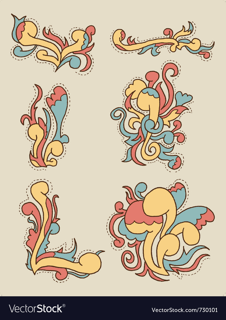 Doodle pattern 2 vector | Price: 1 Credit (USD $1)