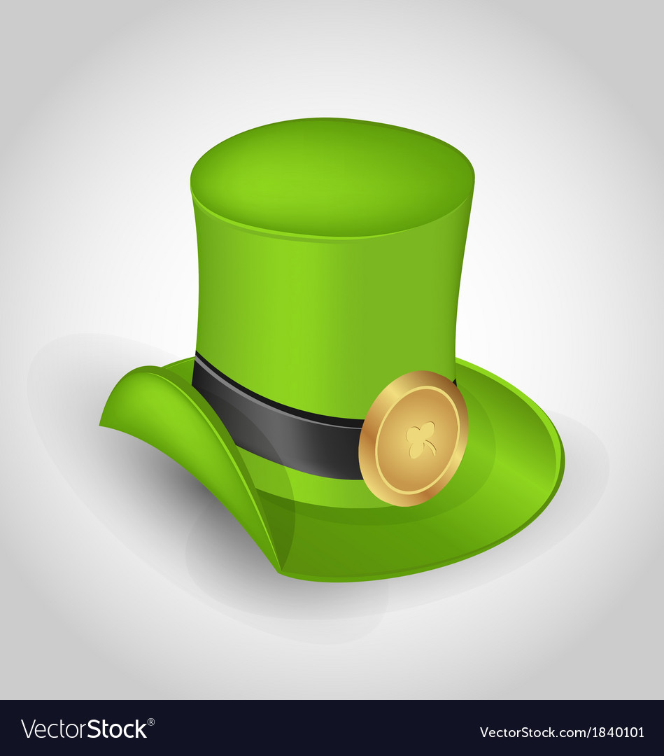 Green hat with buckle in saint patrick day - vector | Price: 1 Credit (USD $1)