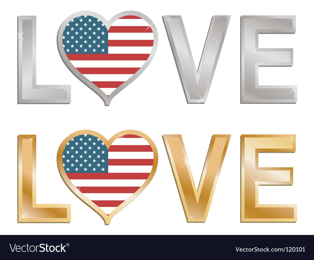 Love the usa sign vector | Price: 1 Credit (USD $1)