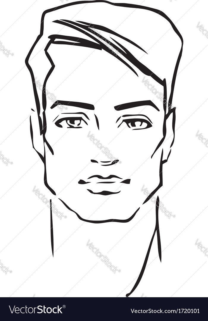 Man face fashion model vector | Price: 1 Credit (USD $1)