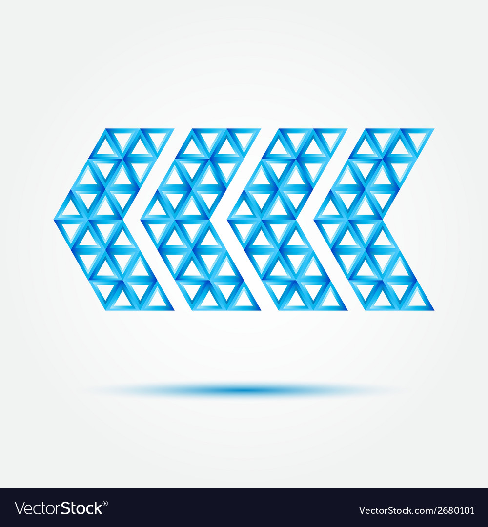 Pointer icon made with triangles - blue abstract vector | Price: 1 Credit (USD $1)