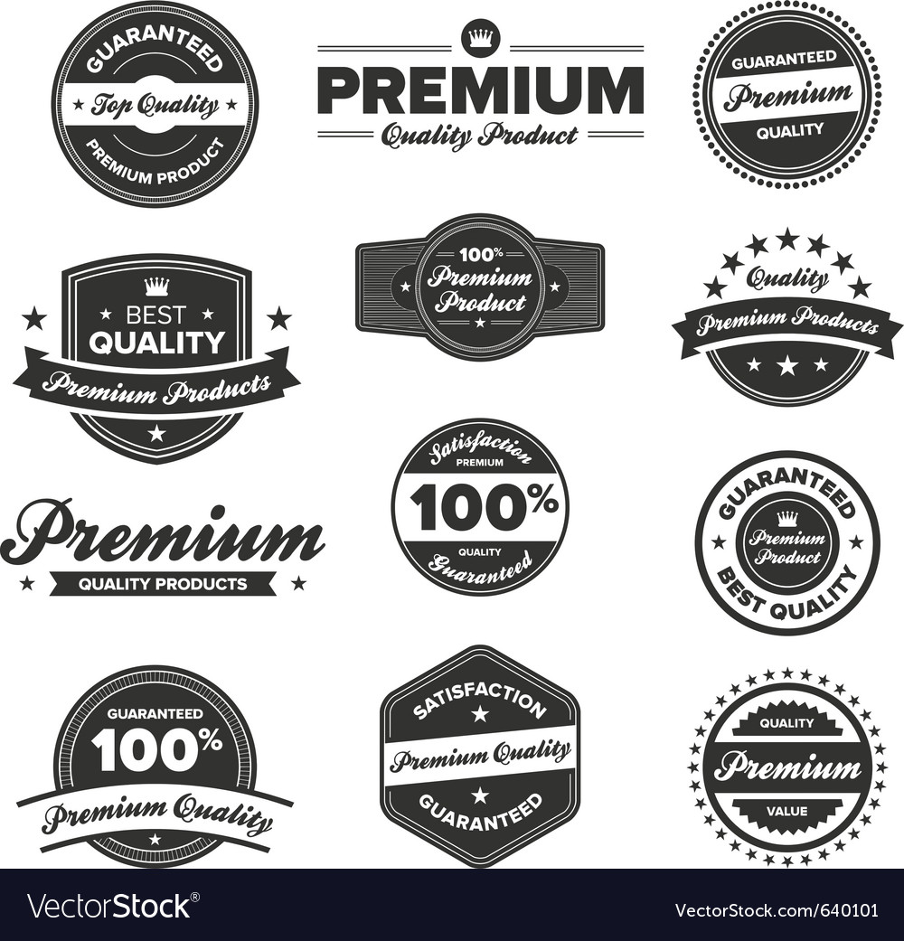 Premium quality badges vector | Price: 3 Credit (USD $3)