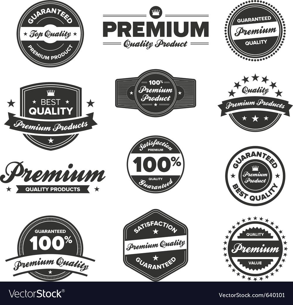 Premium quality badges vector | Price: 3 Credit (USD $3)