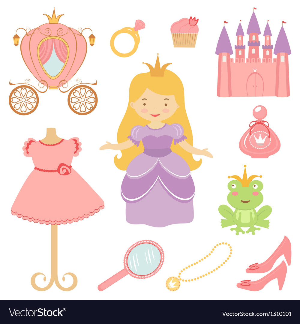 Princess set vector | Price: 3 Credit (USD $3)