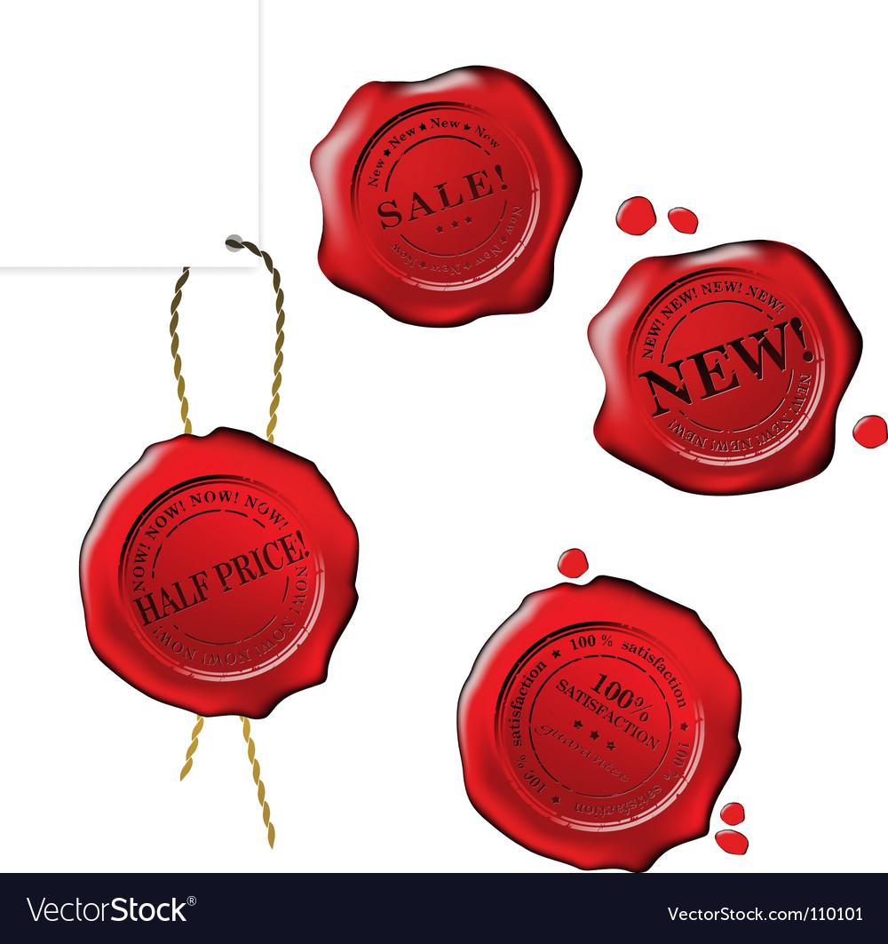 Sale wax stamp set vector | Price: 1 Credit (USD $1)