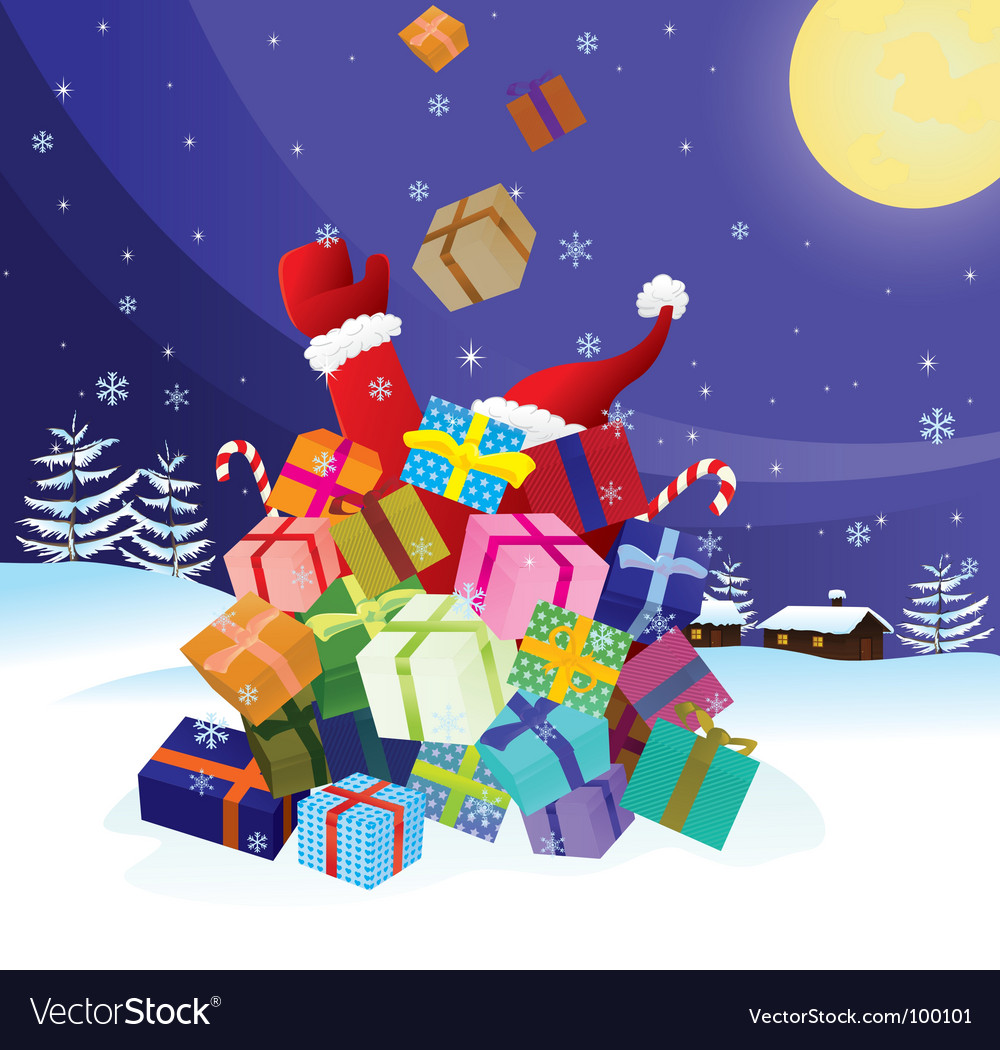 Santa claus crash by christmas vector | Price: 1 Credit (USD $1)