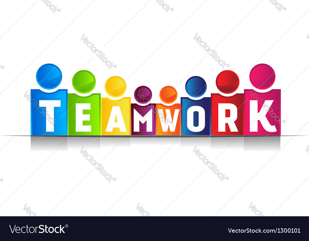 Teamwork concept word logo vector | Price: 1 Credit (USD $1)