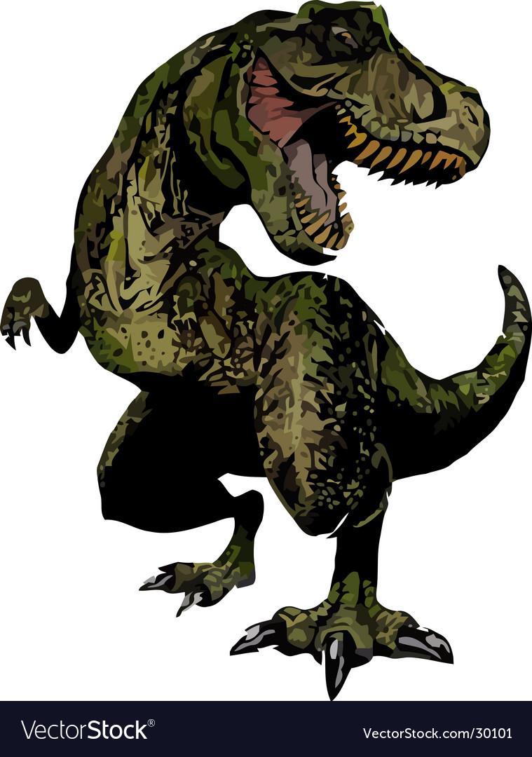 T-red dinosaur reptile vector | Price: 1 Credit (USD $1)