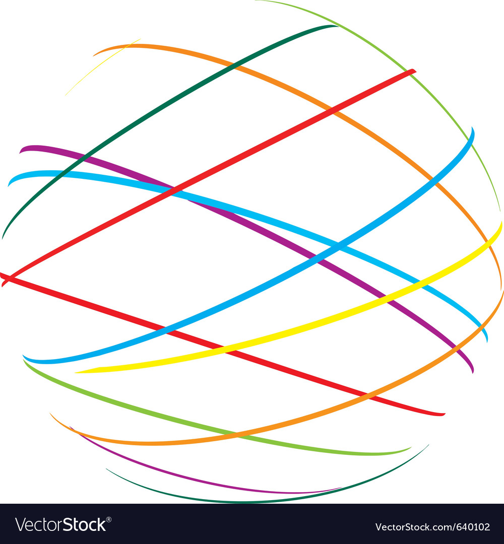 Abstract sphere color lines vector | Price: 1 Credit (USD $1)