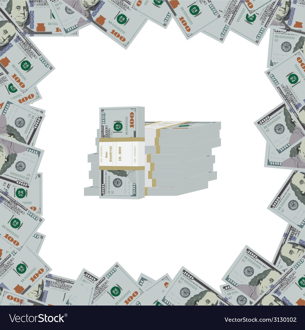 Banknotes of dollars on a light background vector   Price: 1 Credit (USD $1)