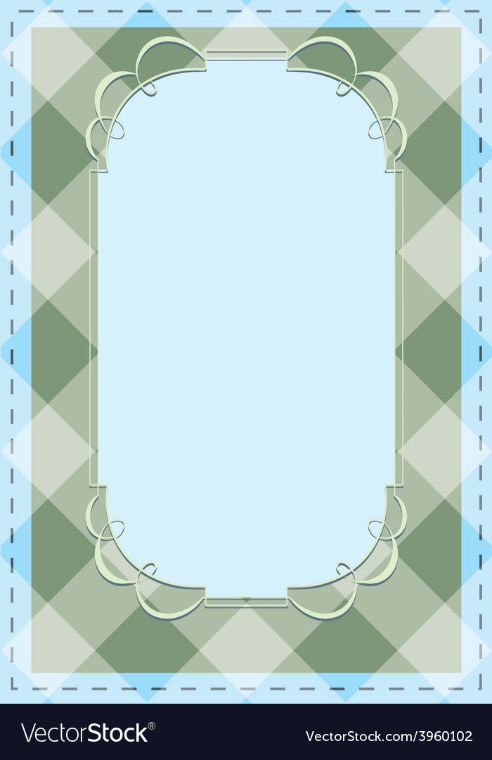 Checkered background with tracery frame vector | Price: 1 Credit (USD $1)