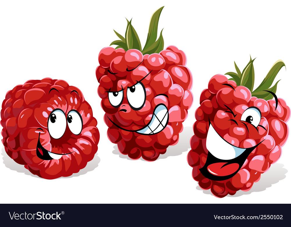Cool raspberry cartoon vector | Price: 1 Credit (USD $1)