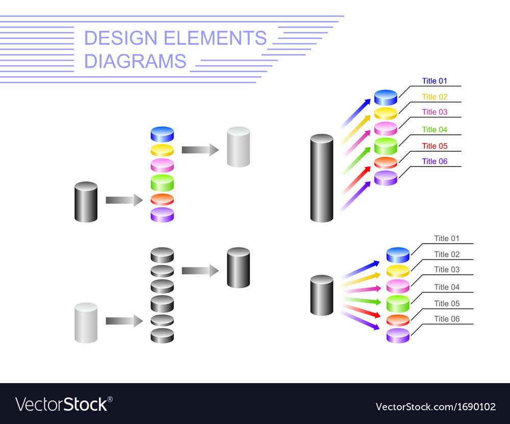Diagrams design elements vector | Price: 1 Credit (USD $1)