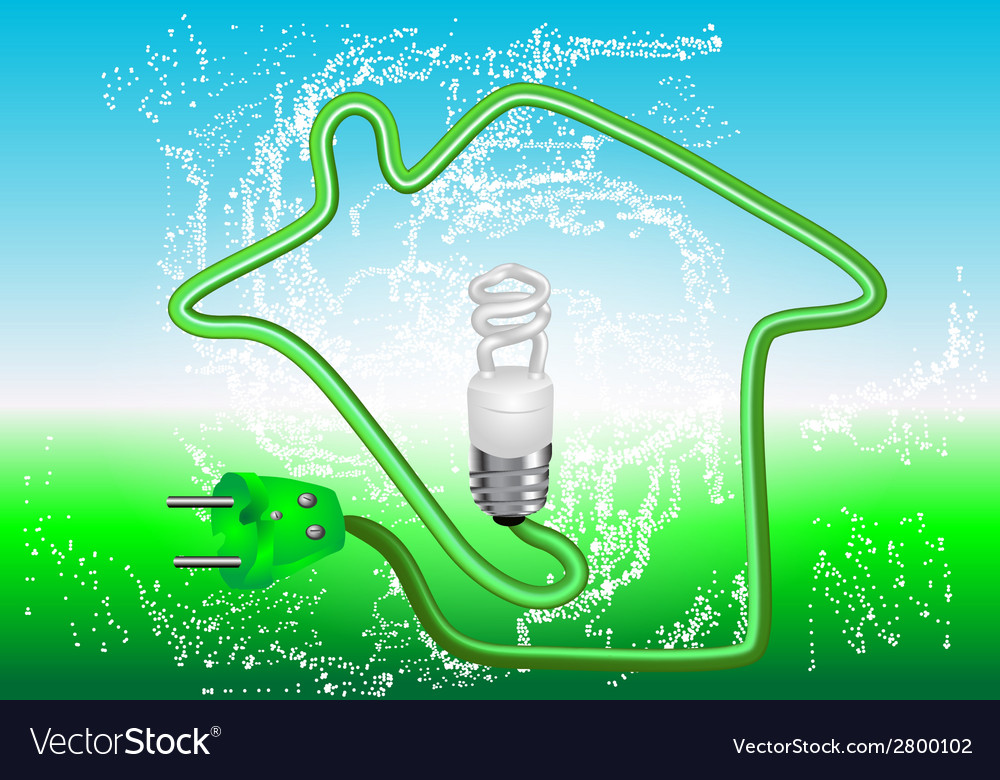 Energy saving vector | Price: 1 Credit (USD $1)