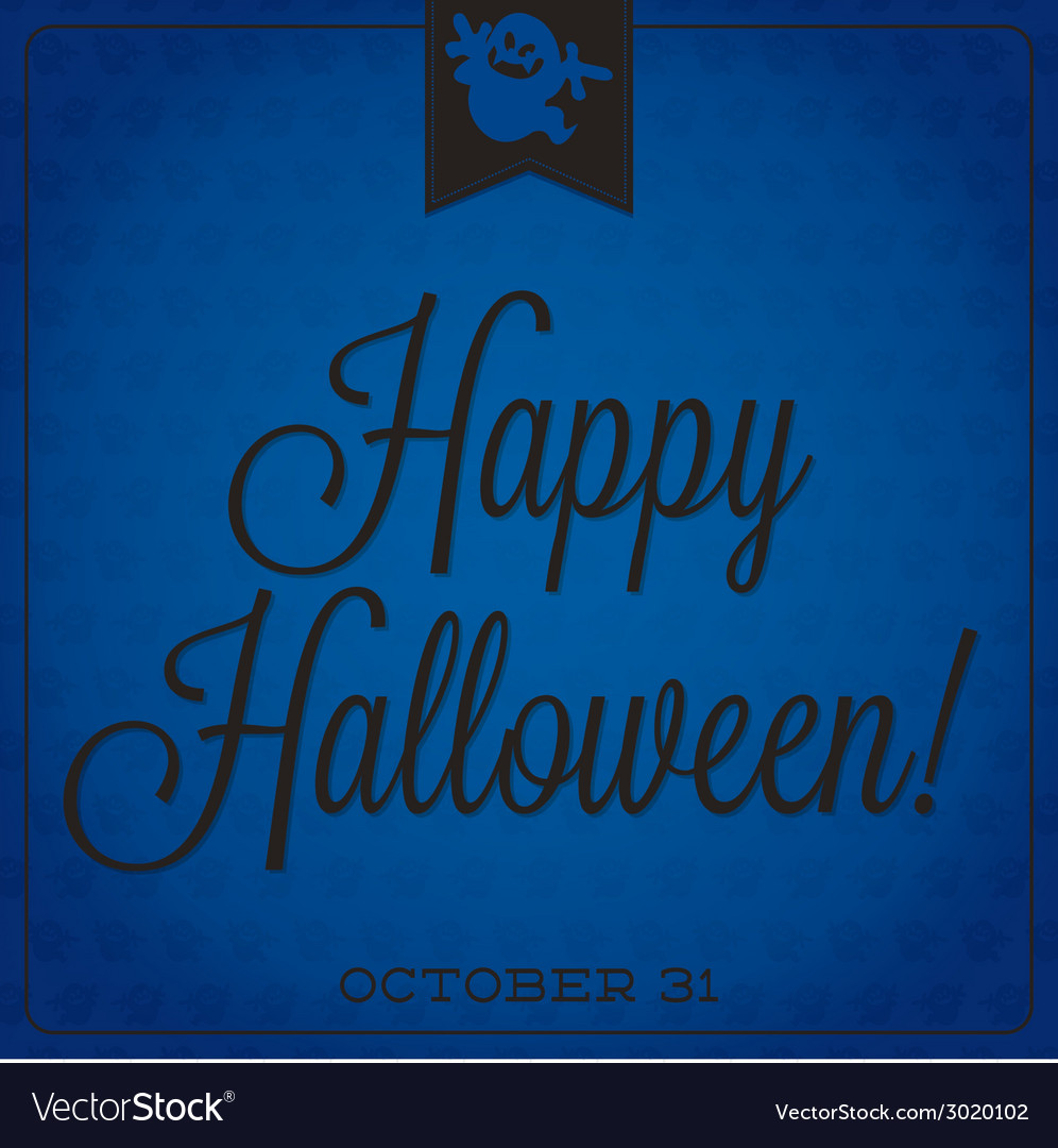 Ghost retro typographic halloween card vector | Price: 1 Credit (USD $1)