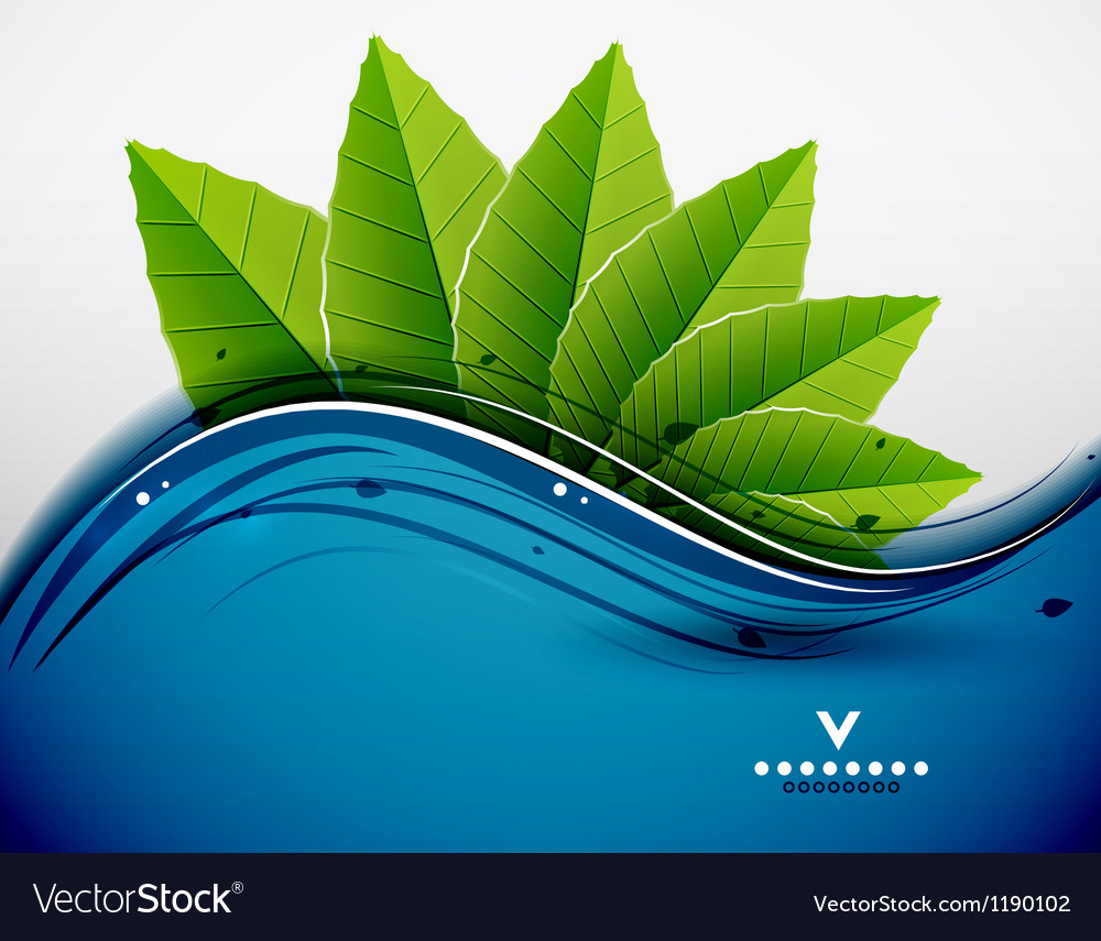 Green leaves nature design vector | Price: 1 Credit (USD $1)