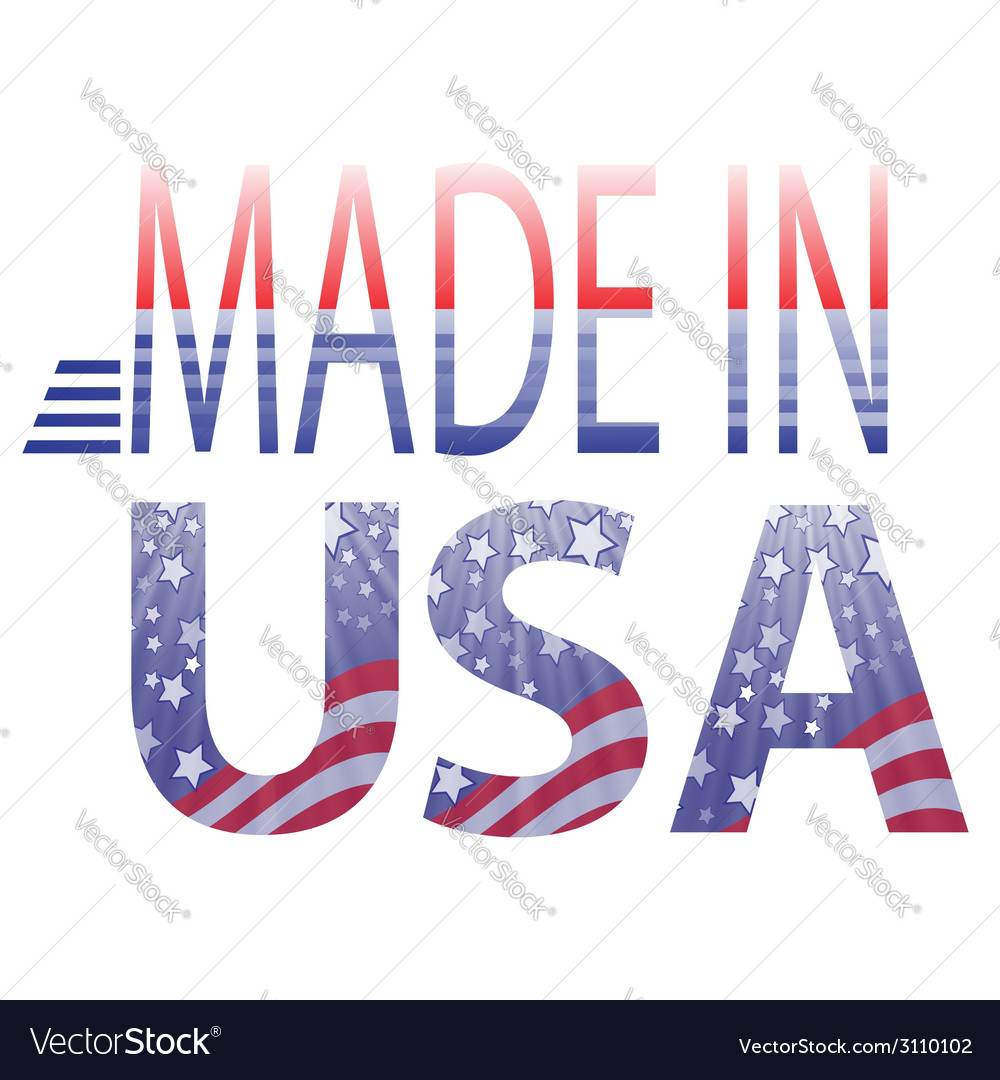 Made in usa text vector | Price: 1 Credit (USD $1)