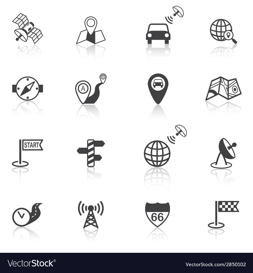 Mobile navigation icons black vector | Price: 1 Credit (USD $1)