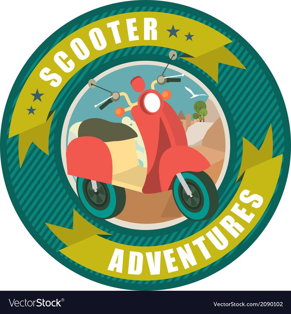 Scooter emblem vector | Price: 1 Credit (USD $1)