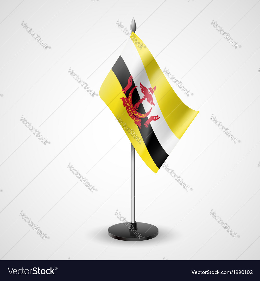 Table flag of brunei vector | Price: 1 Credit (USD $1)