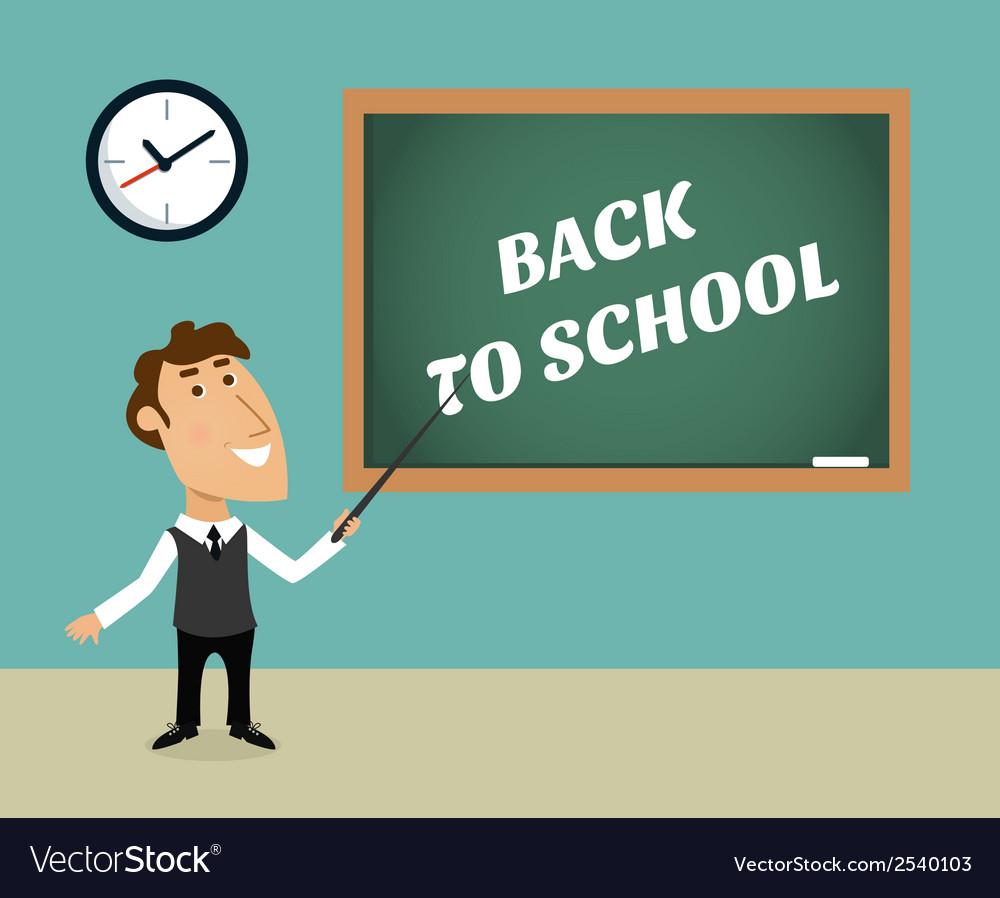 Back to school scene vector | Price: 1 Credit (USD $1)