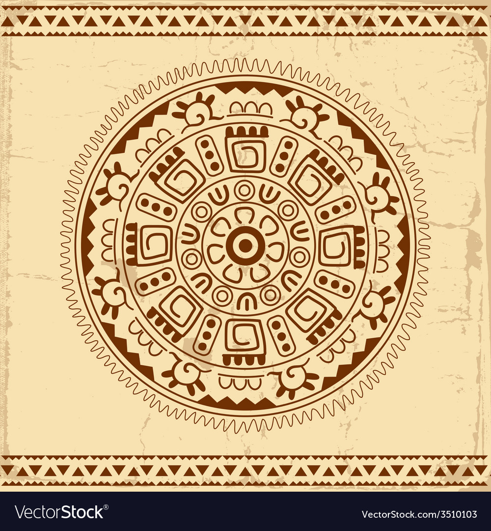 Beautiful mexican ethnic ornament vector | Price: 1 Credit (USD $1)