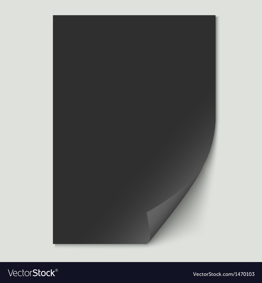 Black paper sheet vector | Price: 1 Credit (USD $1)