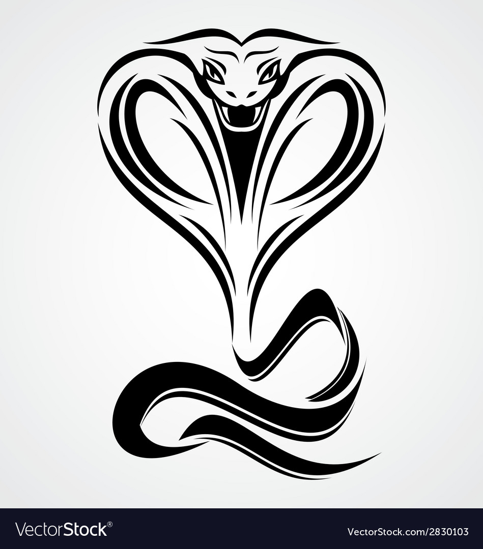 Cobra snake tribal vector | Price: 1 Credit (USD $1)