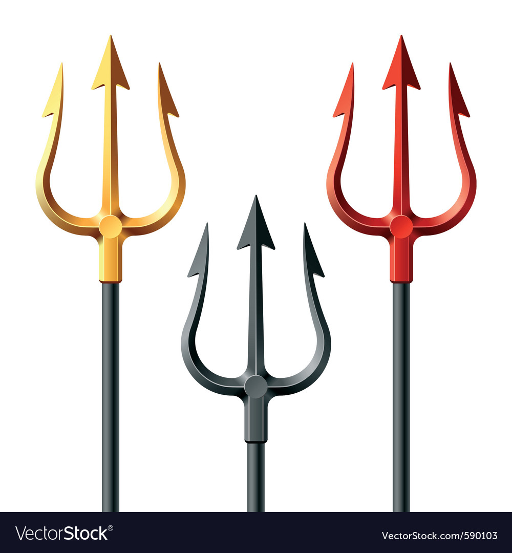 Devil tridents vector