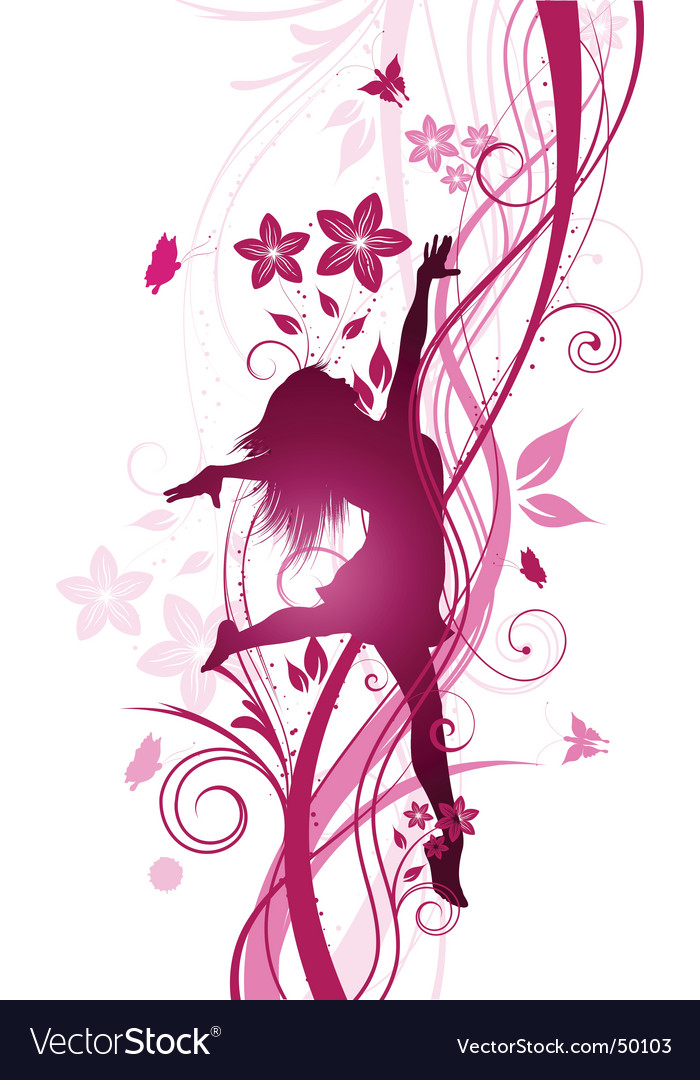 Floral female vector | Price: 1 Credit (USD $1)