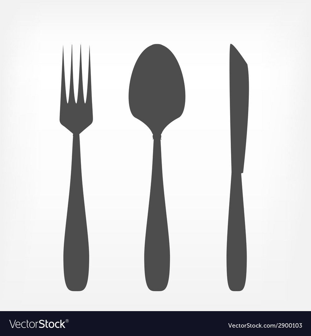 Fork spoon and knife set vector | Price: 1 Credit (USD $1)