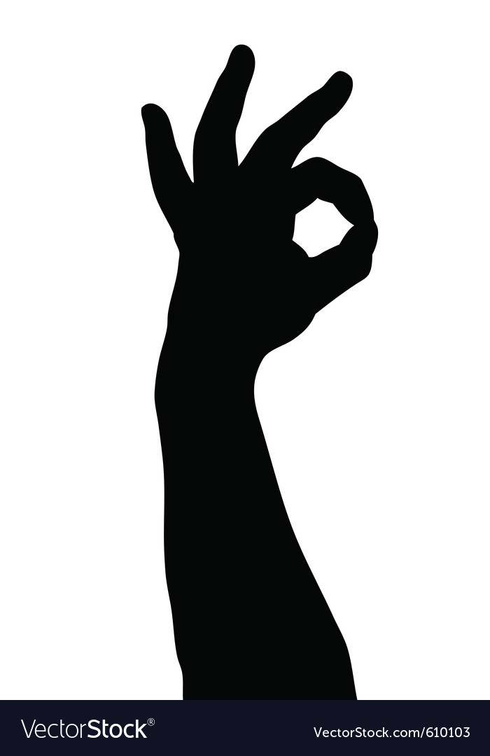 Hand gesture vector | Price: 1 Credit (USD $1)