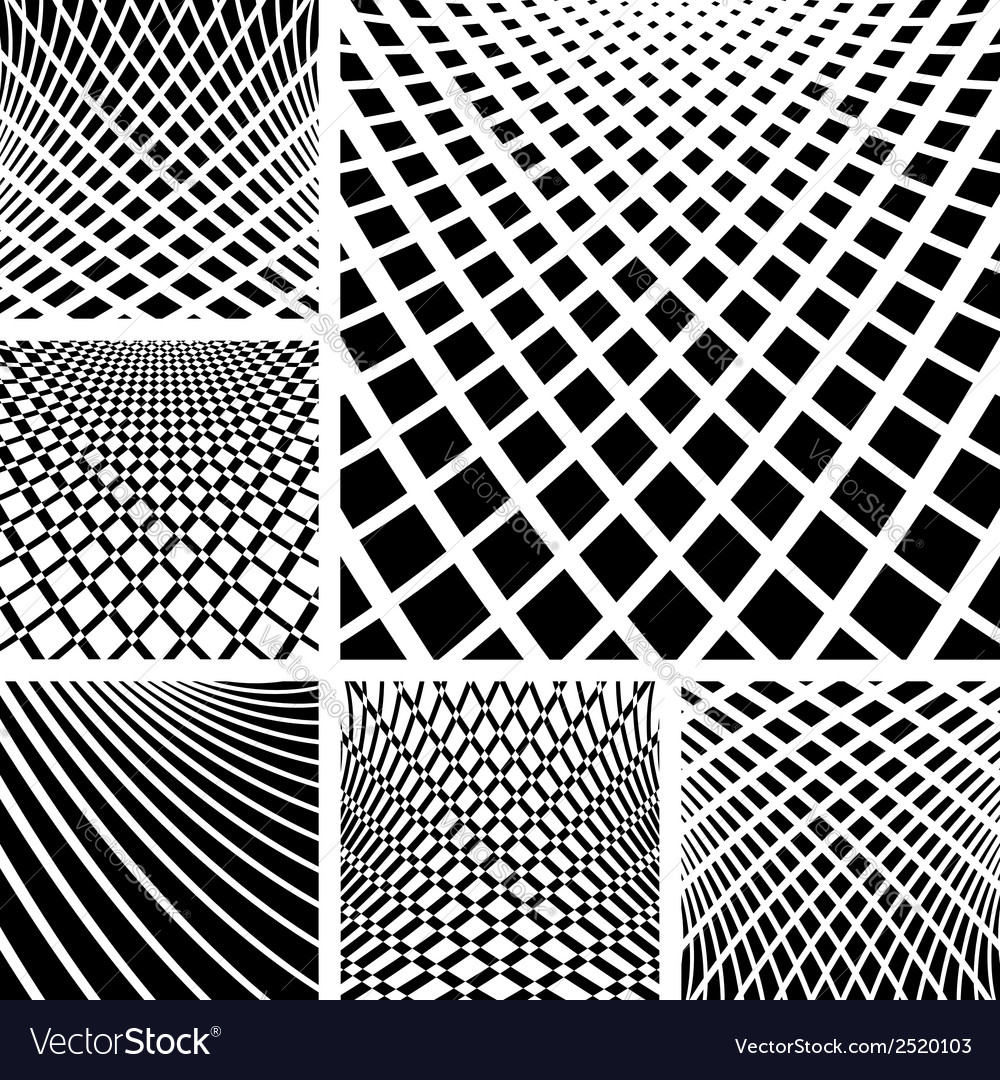 Op art backgrounds set vector | Price: 1 Credit (USD $1)