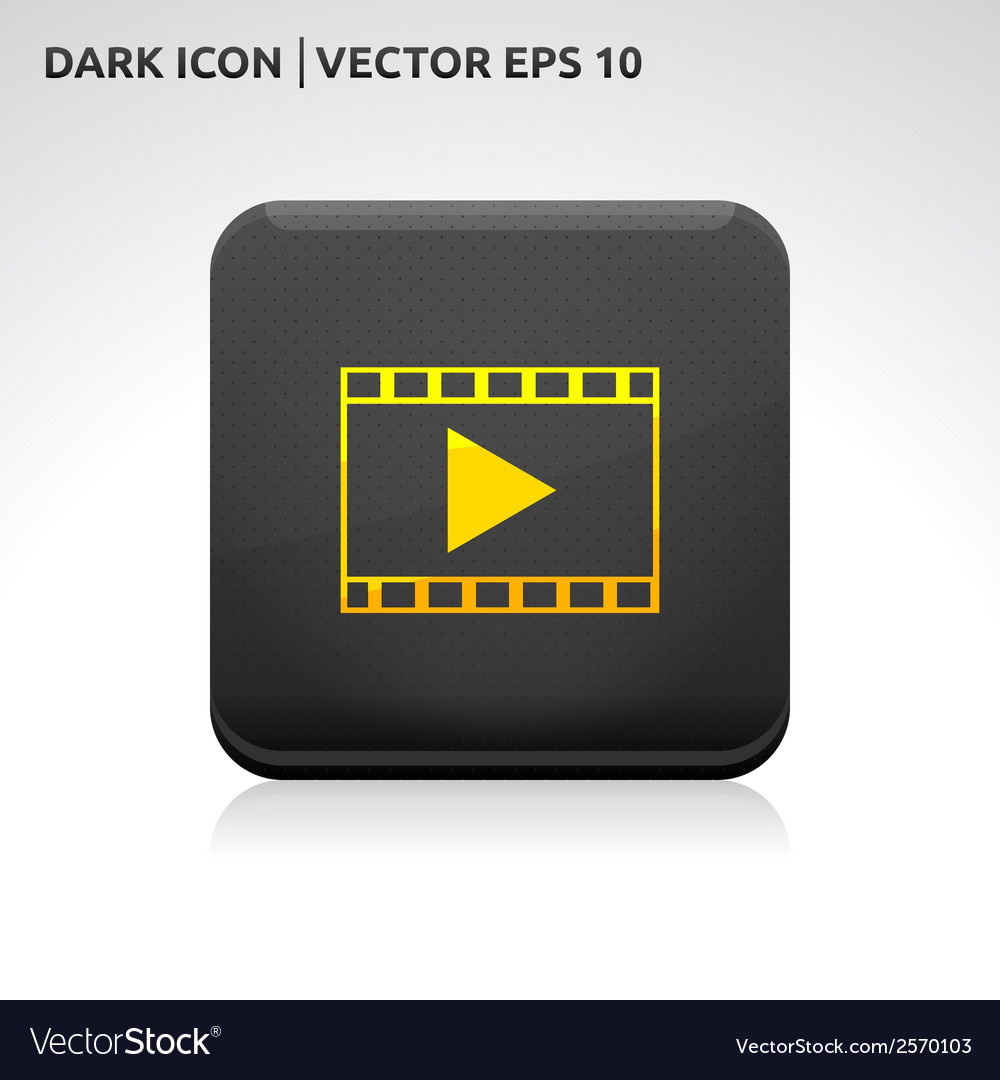 Play video format icon gold vector | Price: 1 Credit (USD $1)