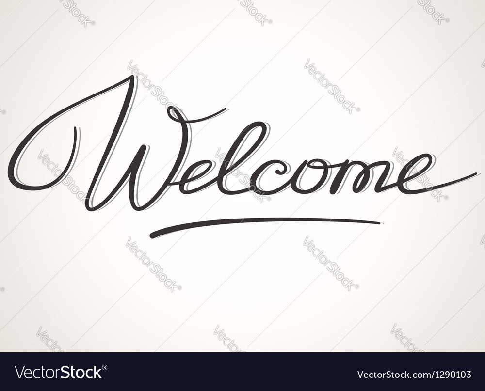 Welcome lettering vector | Price: 1 Credit (USD $1)