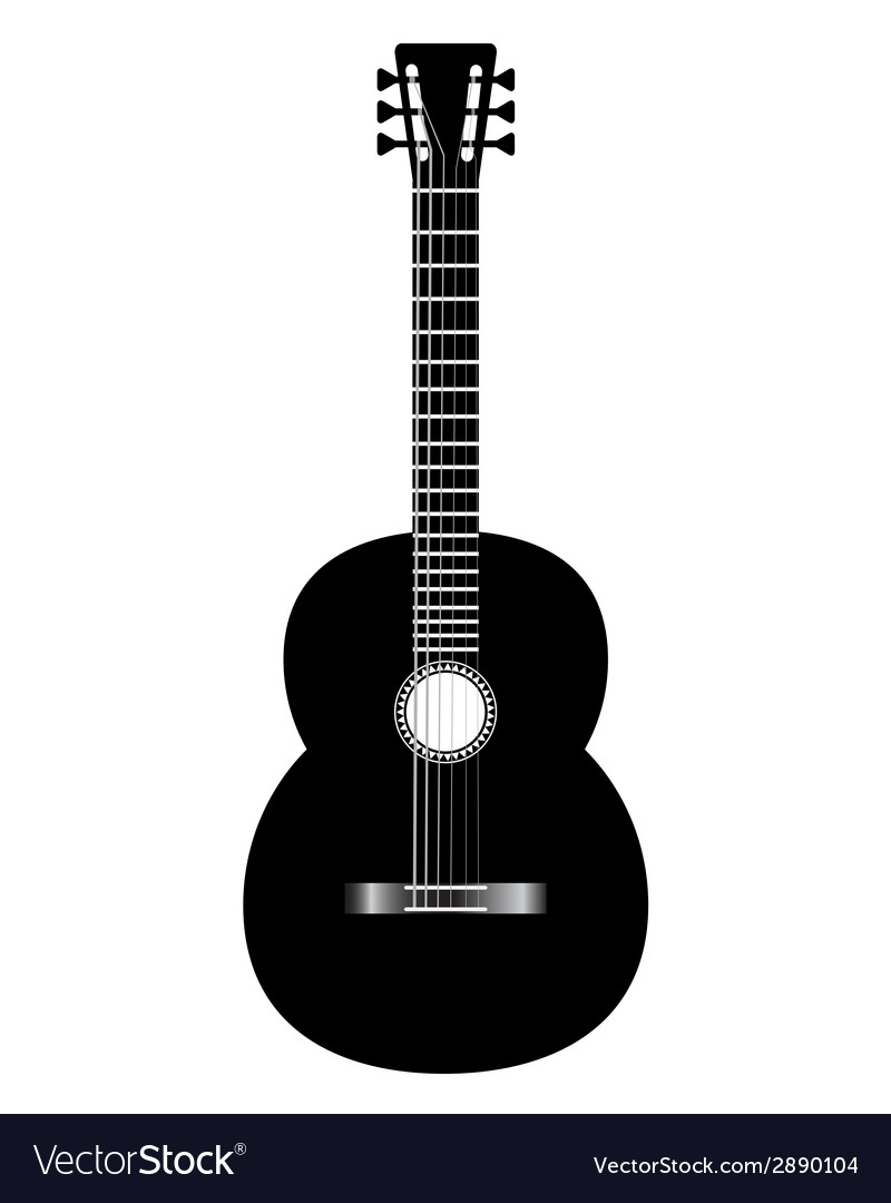 Guitar black vector | Price: 1 Credit (USD $1)