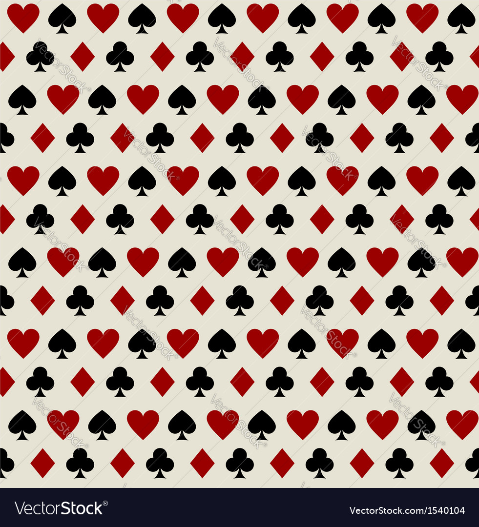 Seamless pattern with playing card suits vector | Price: 1 Credit (USD $1)
