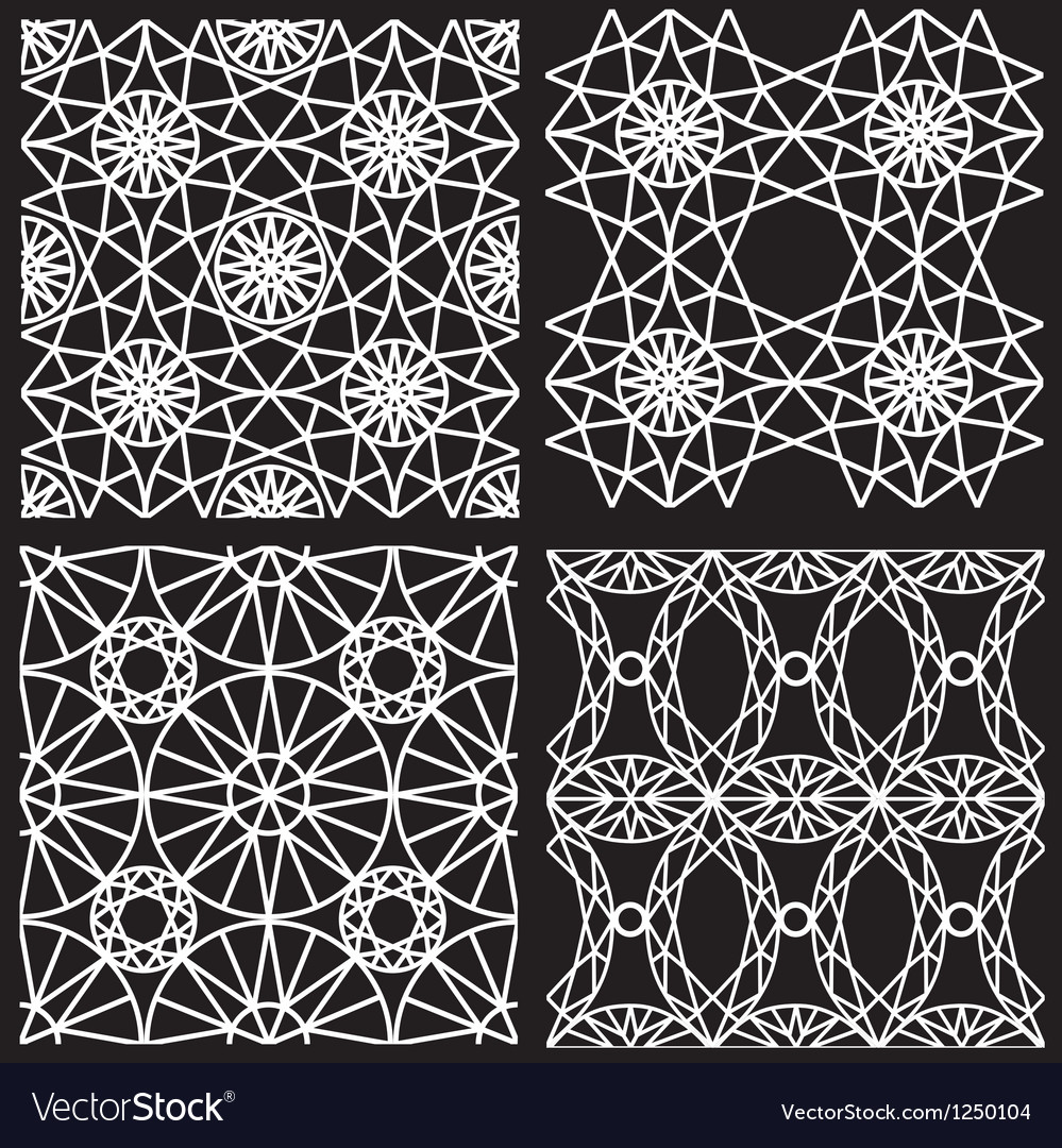 Seamless white pattern from diamond cutting vector | Price: 1 Credit (USD $1)