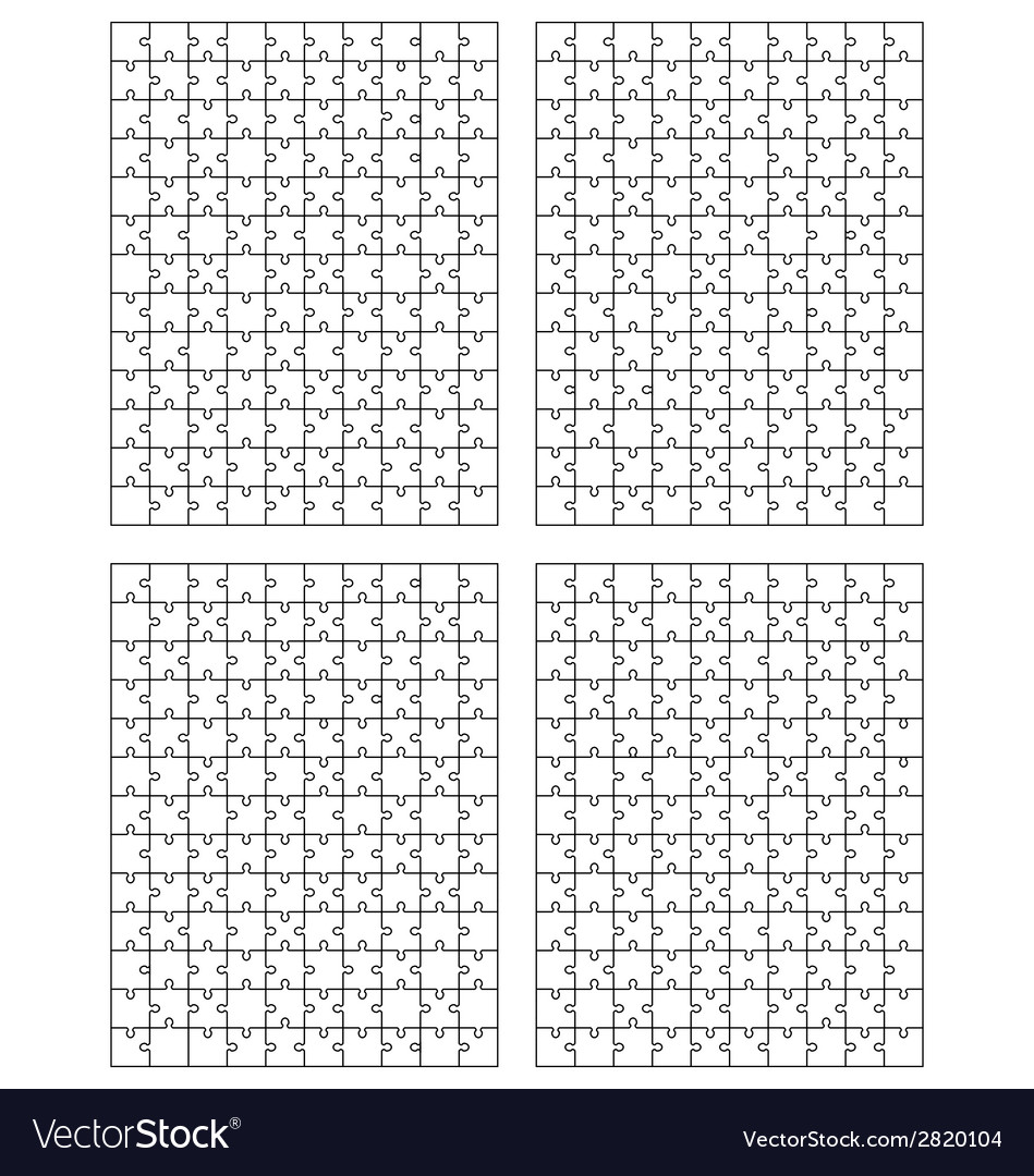 Set of puzzle 2 vector | Price: 1 Credit (USD $1)