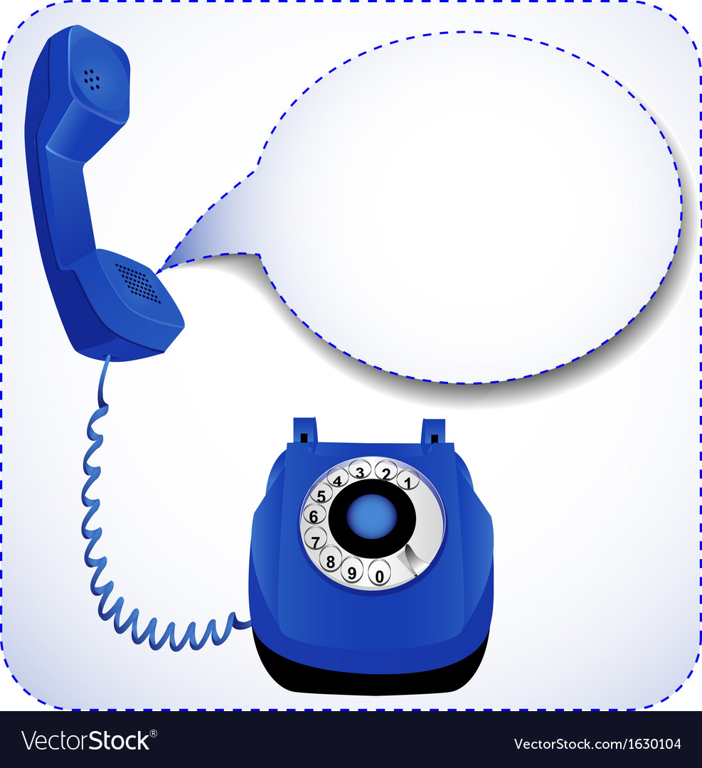 Telephone with raised tube vector | Price: 1 Credit (USD $1)