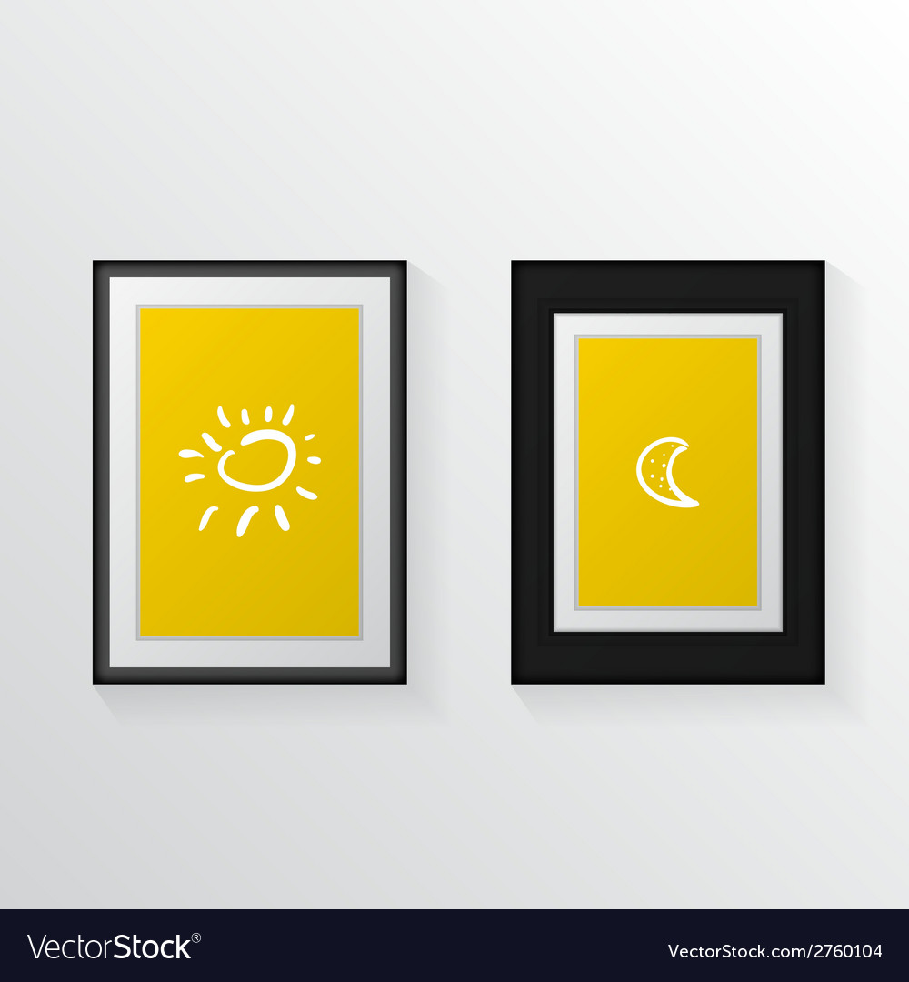 Two poster mock-ups vector | Price: 1 Credit (USD $1)