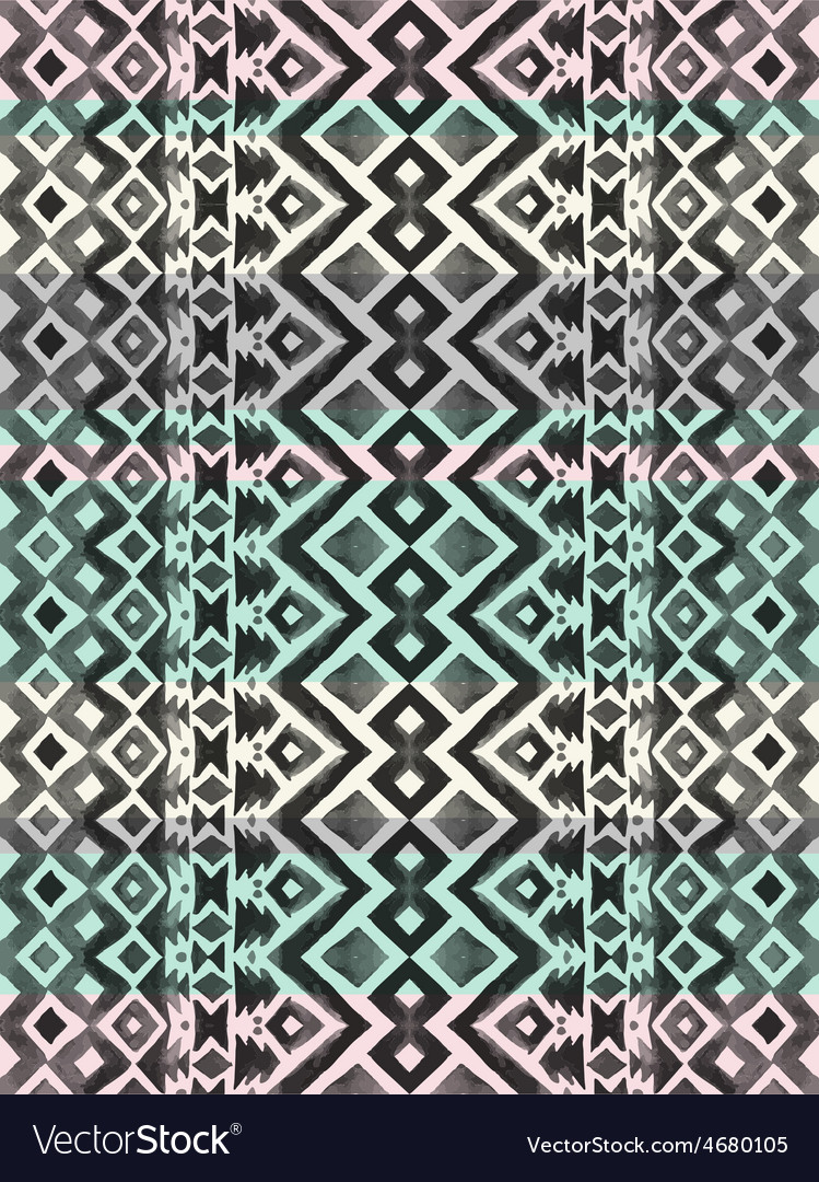 Aztec tribal mexican seamless pattern vector | Price: 1 Credit (USD $1)