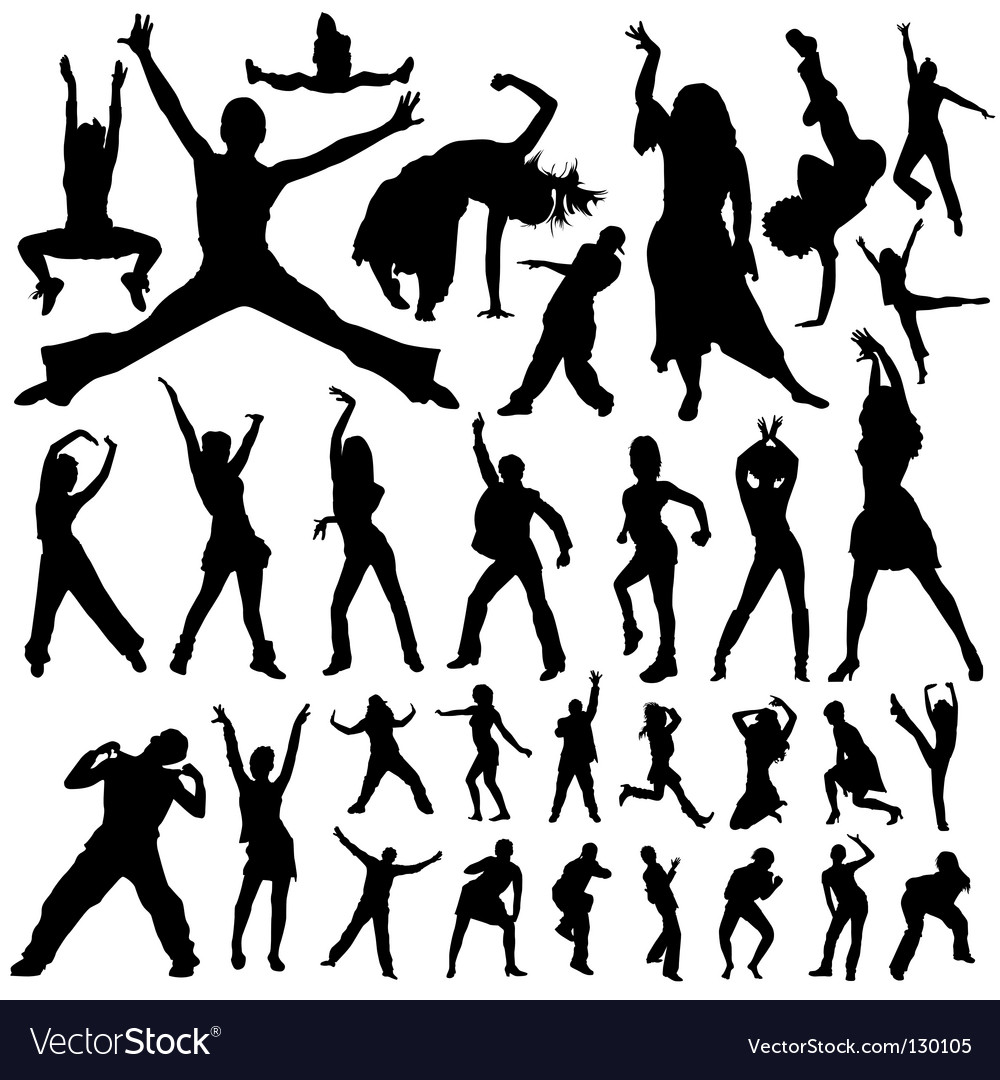 Dancing and party people vector | Price: 1 Credit (USD $1)