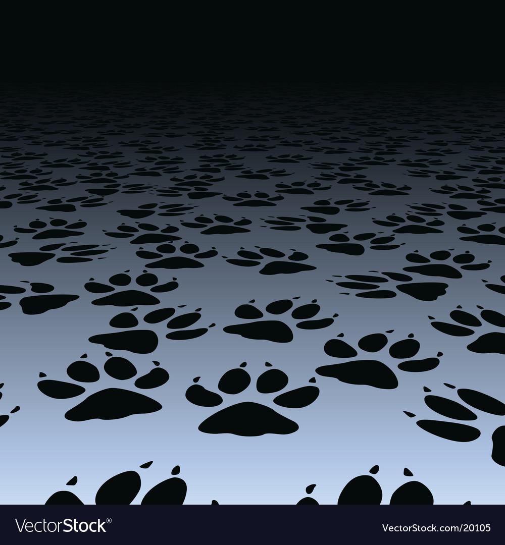 Dog prints vector | Price: 1 Credit (USD $1)