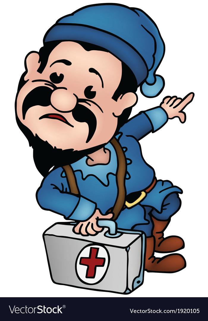 Dwarf doctor vector | Price: 1 Credit (USD $1)